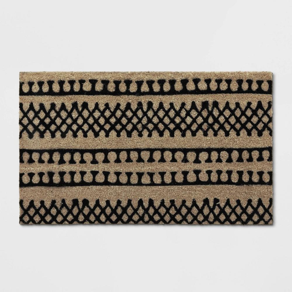 Stripe Tufted Doormat Black