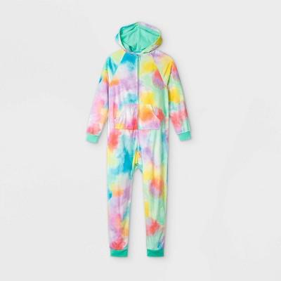 Girls' Hooded Tie-Dye Pajama Jumpsuit - Cat & Jack™