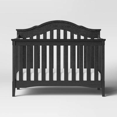 Delta Children Farmhouse 6-in-1 Convertible Crib - Textured Midnight Gray