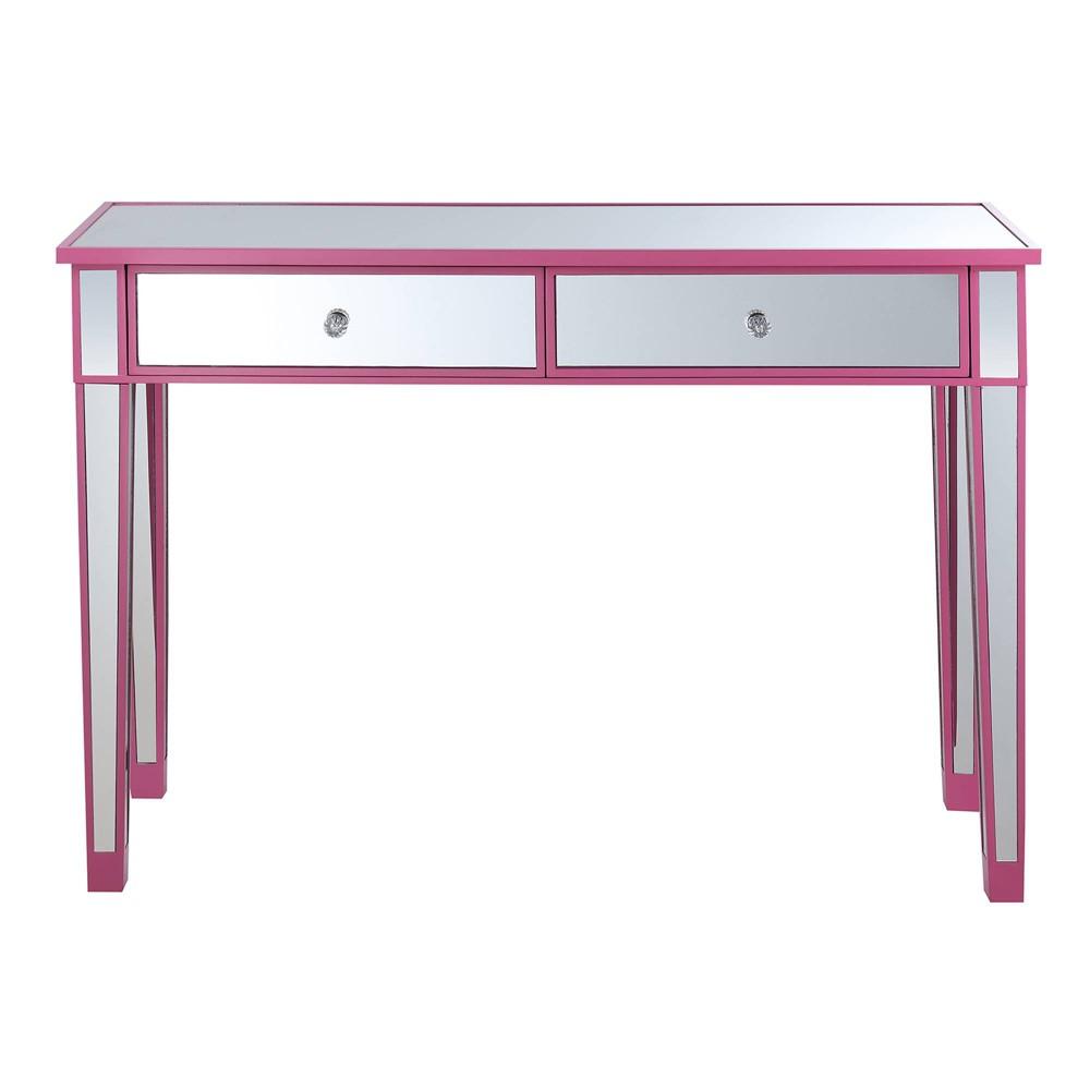 Gold Coast Mirrored Desk Vanity Pink - Johar Furniture