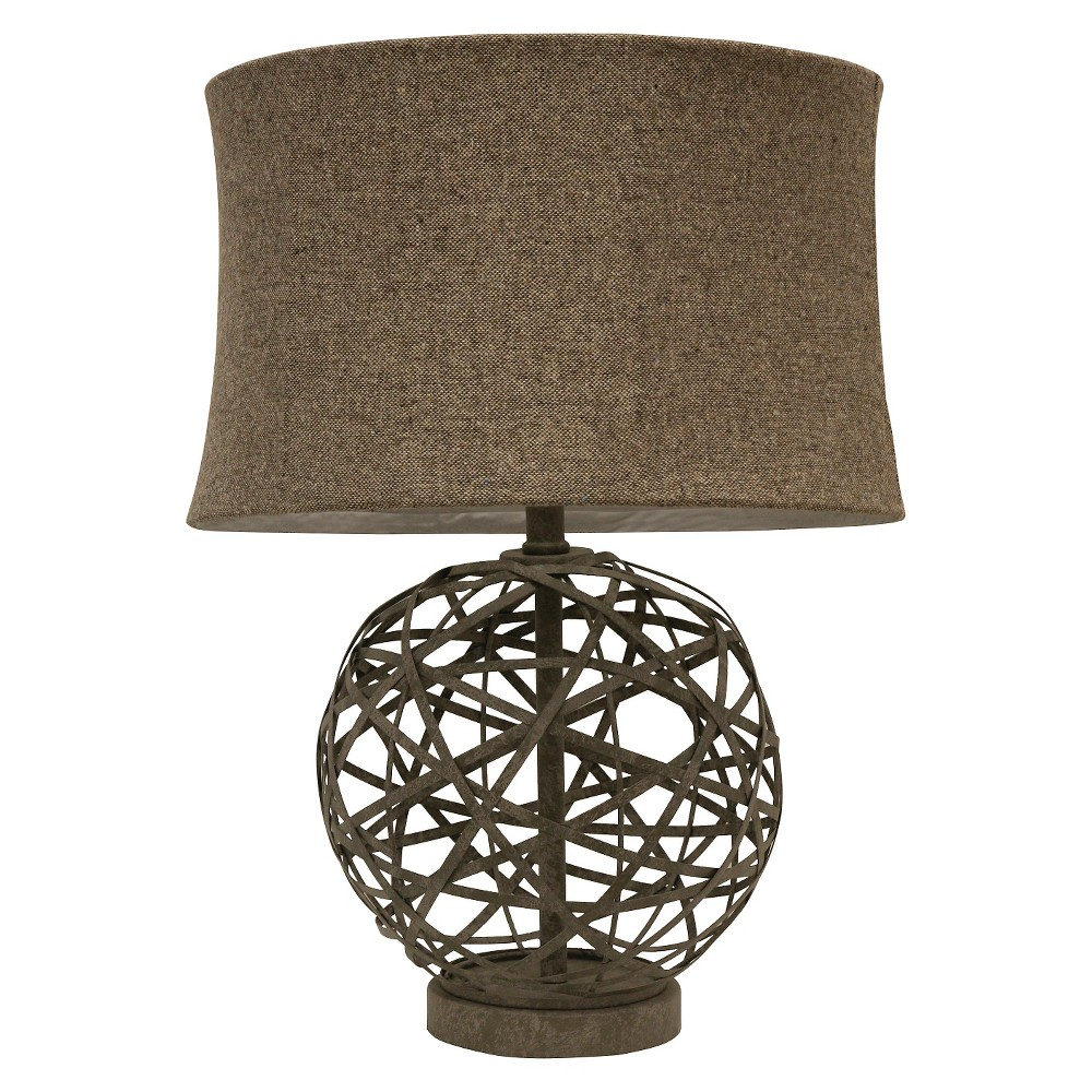 J. Hunt Strapped Steel Ball Lamp (Lamp Only) - Gray/Light Brown