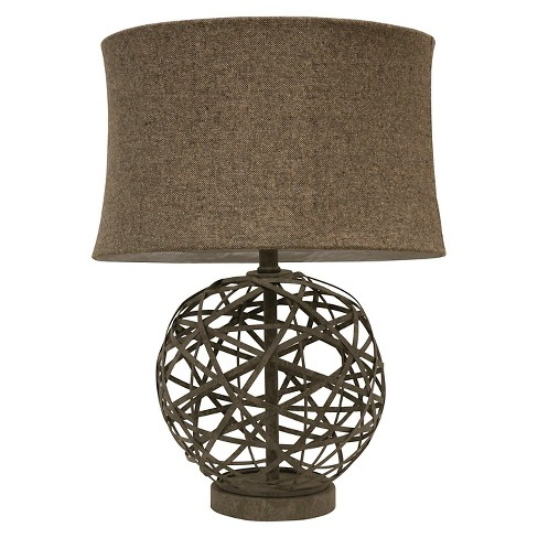 J. Hunt Strapped Steel Ball Lamp - Gray/Light Brown - image 1 of 3