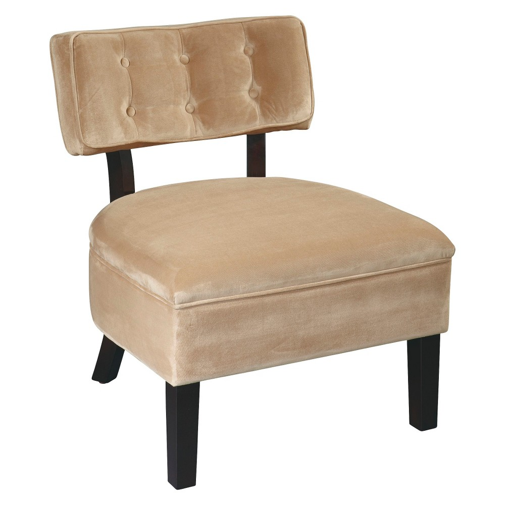 Curves Button Chair - Osp Home Furnishings, Brown