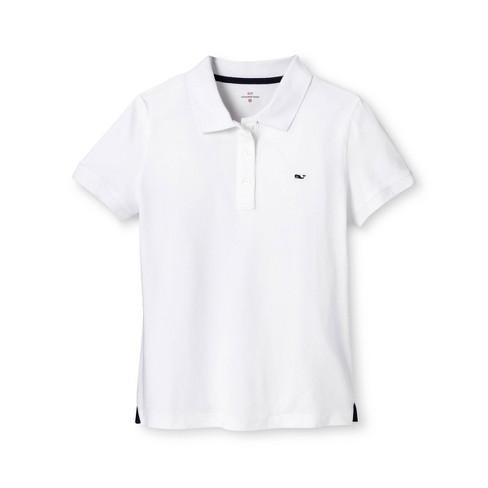 4dffbdd5af Women's Short Sleeve Polo Shirt - White - Vineyard Vines® For Target ...