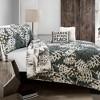 5pc Camouflage Leaves Quilt Set Green - Lush Decor - image 3 of 4