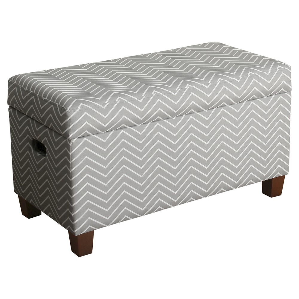 Image of Cameron Storage Bench Kids Storage Ottoman Gray - Homepop