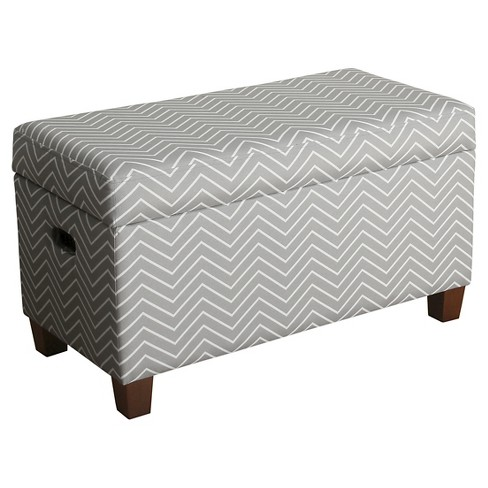 Awe Inspiring Cameron Storage Bench Kids Storage Ottoman Gray Homepop Frankydiablos Diy Chair Ideas Frankydiabloscom
