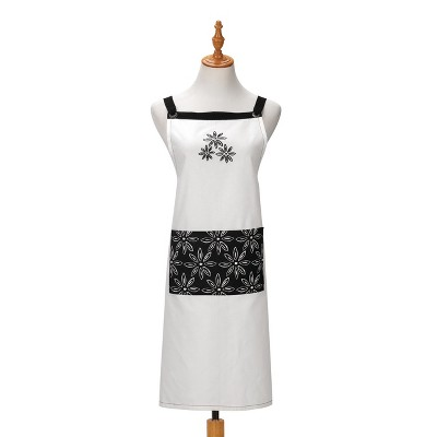 DEMDACO Floral Pattern Apron One Size Fits Most - White