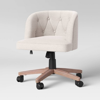 Conover Tufted Barrel Office Chair with Casters Cream - Threshold™