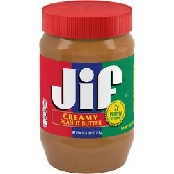 Jif Creamy Peanut Butter - 40oz