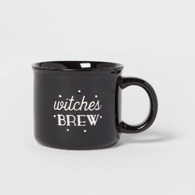15oz Stoneware Witches Brew Camper Mug Black - Threshold™