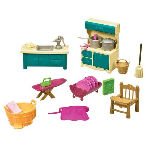 Li'l Woodzeez Miniature Furniture Playset 21pc - Kitchenette & Housekeeping Set - image 1 of 3
