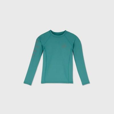 Boys' Long Sleeve Wave Rash Guard Swim Shirt - art class™ Green