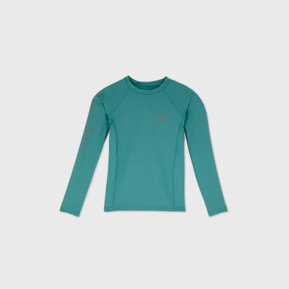 Compare Boys' Long Sleeve Wave Rash Guard Swi Shirt - art class™ Green