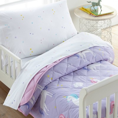 4pc Toddler Unicorn Cotton Bed in a Bag - WildKin