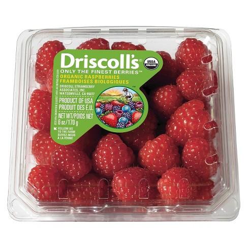Organic Raspberries - 6oz Package - image 1 of 3