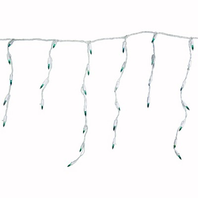 Northlight 100 Count Teal Mini Icicle Christmas Lights, 3.5 ft White Wire