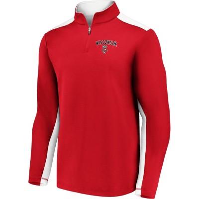NCAA Wisconsin Badgers Men's 1/4 Zip Sweatshirt
