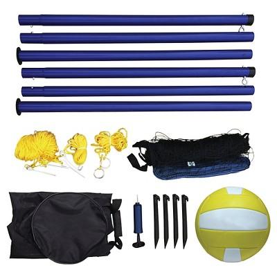 Portable Volleyball Net, Posts, Ball & Pump Set