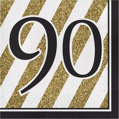 48ct Happy 90th Birthday Napkins