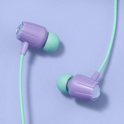 Wired Kids' Earbuds - More Than Magic™ - Green/Purple