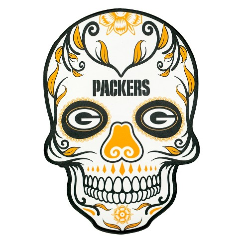 NFL Green Bay Packers Large Outdoor Skull Decal   Target 38b569f28
