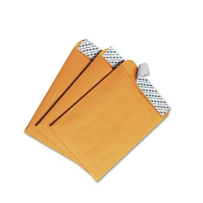 Quality Park Redi Strip Catalog Envelope #55 6 x 9 Brown Kraft 100/Box 44162