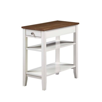 American Heritage 3 Tier End Table with Drawer - Breighton Home