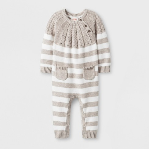 574f538b1 Baby Striped Sweater Romper With Two Front Pockets...   Target