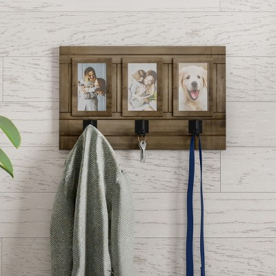 Wall Photo Collage with Hanging Hooks Brown - Lavish Home