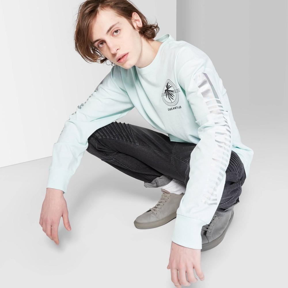 Men's Long Sleeve Dream Life Graphic T-Shirt - Original Use Light Blue S