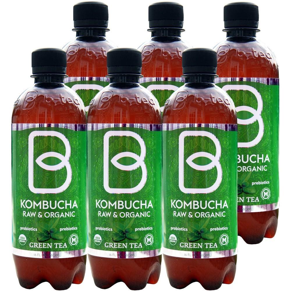 B Tea Raw 38 Organic Green Tea 6pk 16 Fl Oz Bottles