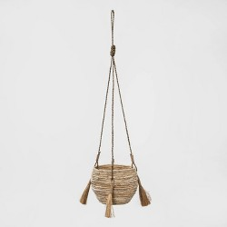 "7.75"" Hanging Woven Planter Brown - Opalhouse™"