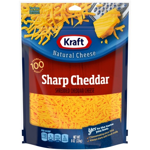 Kraft Shredded Sharp Cheddar Cheese - 8oz - image 1 of 4