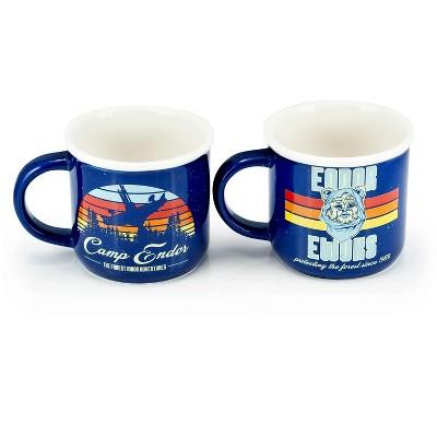 Seven20 Star Wars Camp Endor Retro Mugs | Ewok Forest Camp of Endor Cups | Set of 2 Mugs
