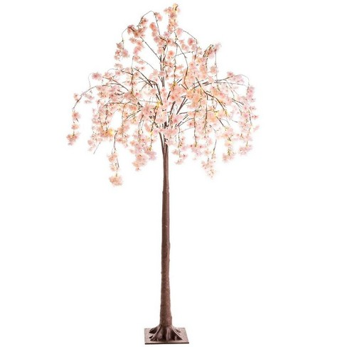 Large Lighted Faux Weeping Cherry Tree