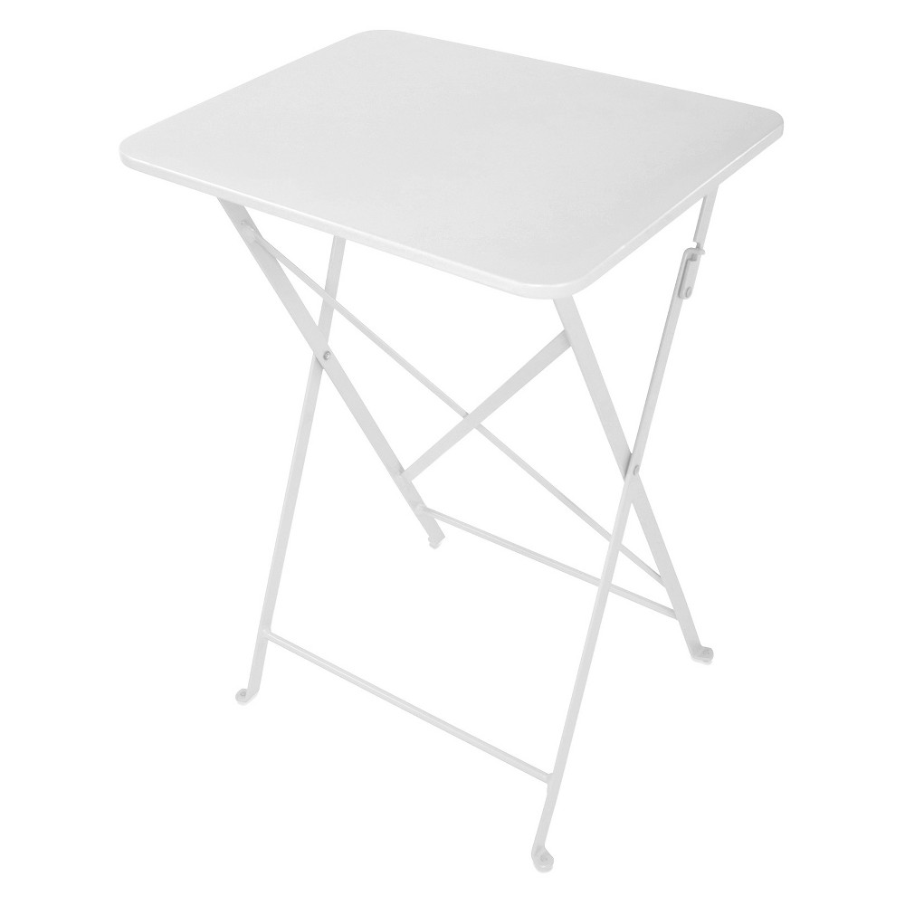 Café Indoor/Outdoor Tray Table White (Set of 2) - Jamesdar