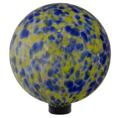 "Northlight 10"" Yellow and Blue Outdoor Patio Garden Gazing Ball"