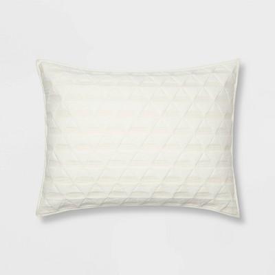 King Triangle Stitched Jersey Sham Cream - Project 62™ + Nate Berkus™