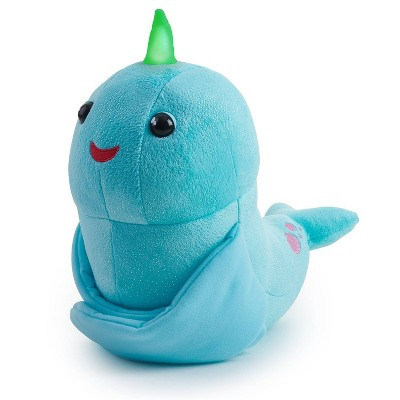 Fingerlings HUGS - Nikki (Blue Glitter) - Interactive Plush Narwhal - By WowWee
