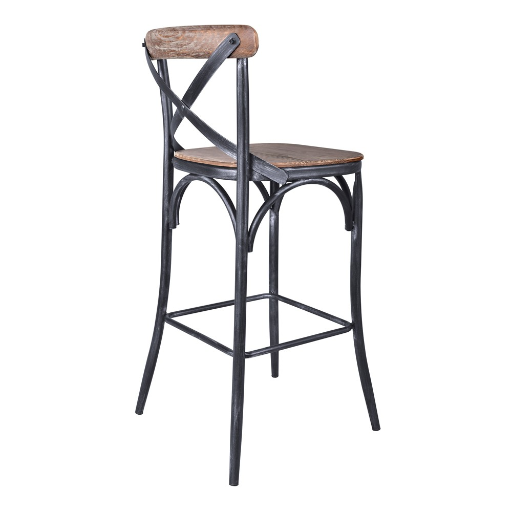 """Image of """"30"""""""" Catherine Industrial Bar Height Barstool Pine - Modern Home, Green"""""""
