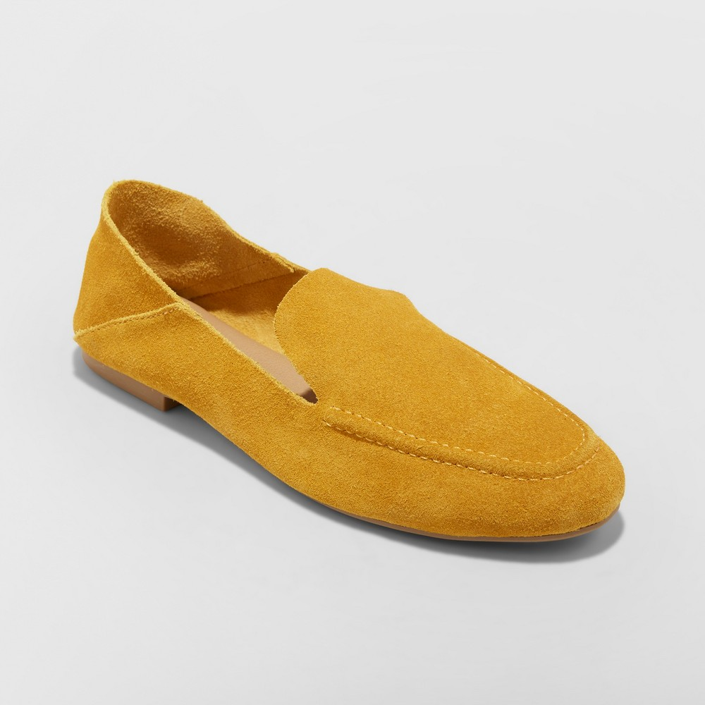 Women's Jisela Collapsible Back Loafers - A New Day Yellow 6.5