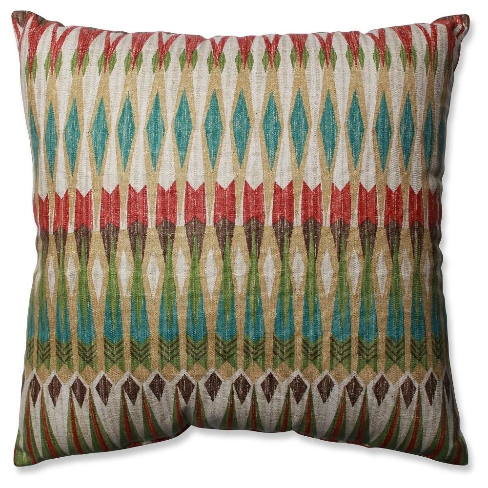 "Image of ""Brown Acela Adobe Throw Pillow (18x18"""") 18x18"""" - Pillow Perfect, Size: 18x18"""""""