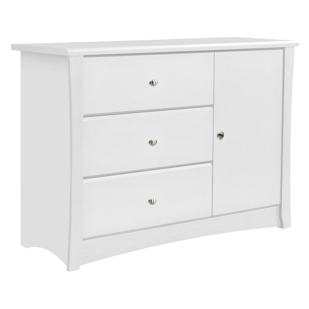 Storkcraft Crescent 3-Drawer Combo Dresser - White
