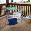 Household Essentials Extendable Folding Drying Rack with Shelf - image 2 of 4