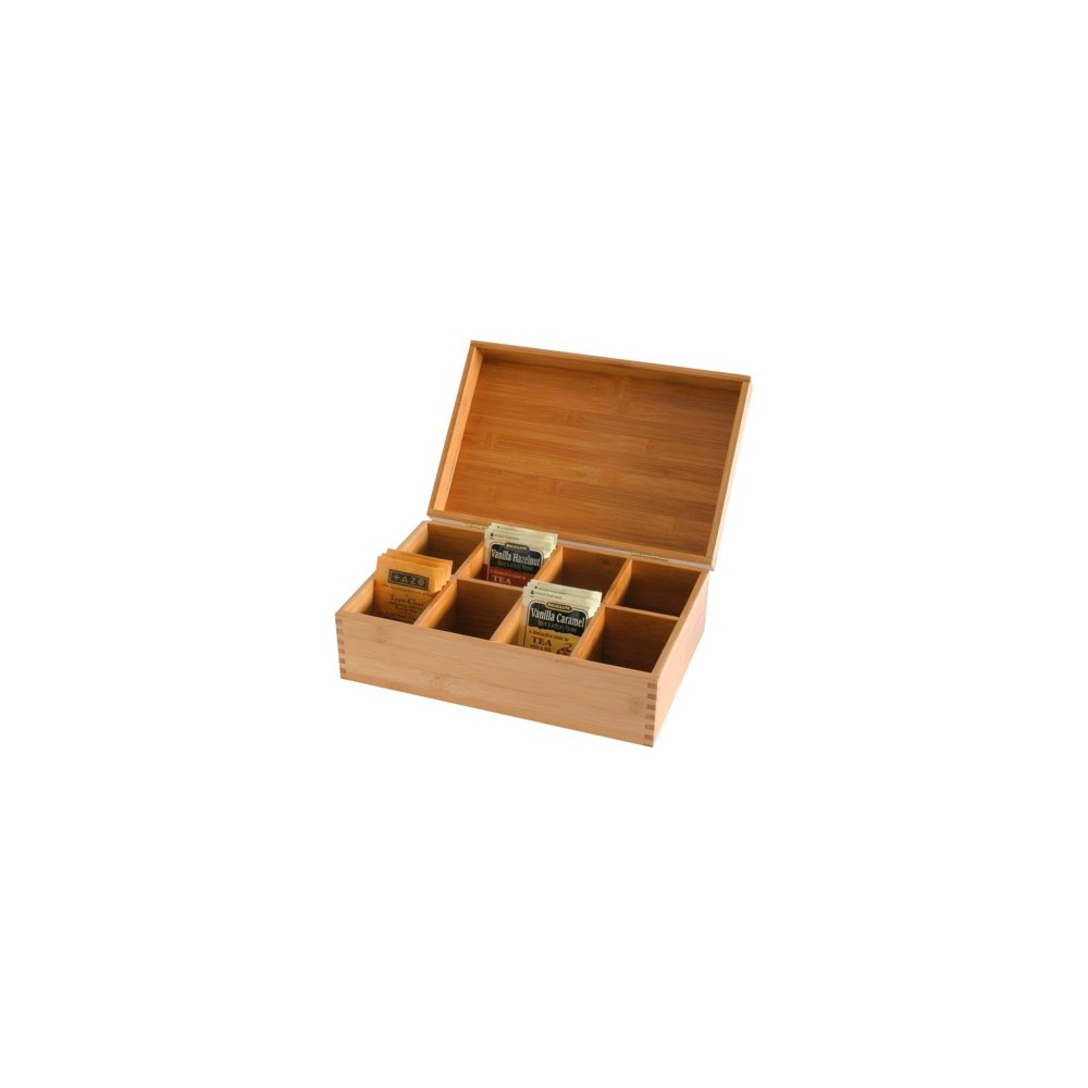 Lipper International Bamboo Tea Box