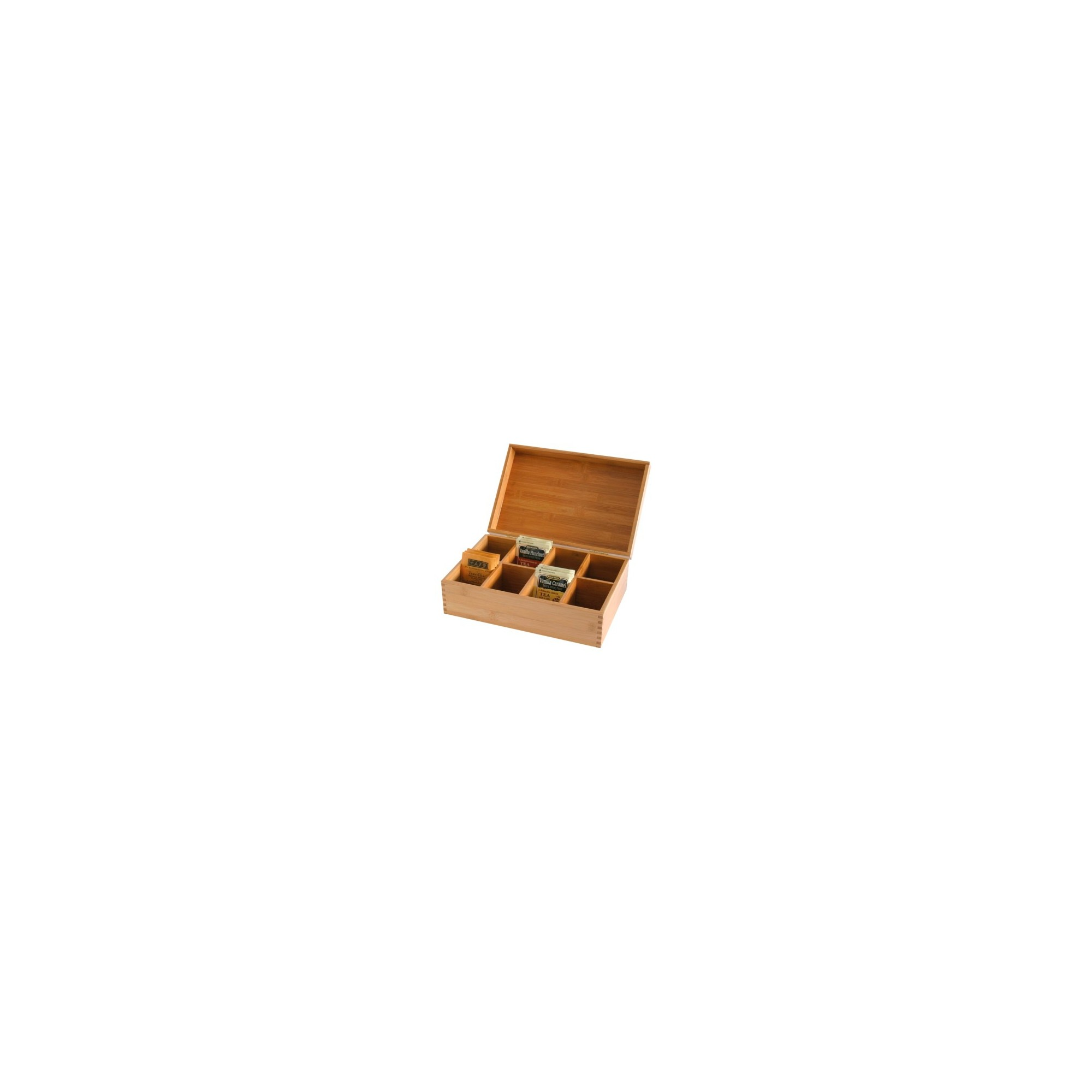 Lipper International Bamboo Tea Box, Brown