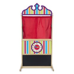 Melissa & Doug® Deluxe Puppet Theater - Sturdy Wooden Construction