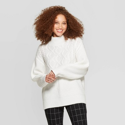 Women's Long Sleeve Mock Turtleneck Pullover Sweater   A New Day™ by A New Day