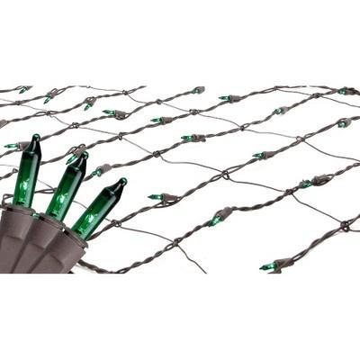 Northlight 150ct Mini Trunk Wrap Net Lights Green - 2' x 8' Brown Wire